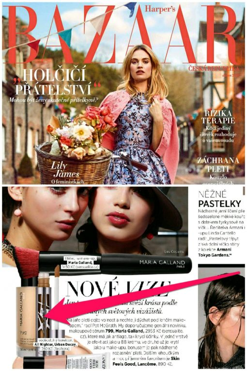 Make-up Maria Galland 799 v Harper's Bazaar duben 2018