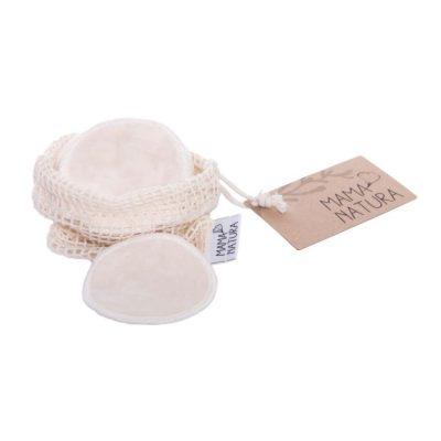 Malý kosmetický tampon pratelný z biobavlněného sametu