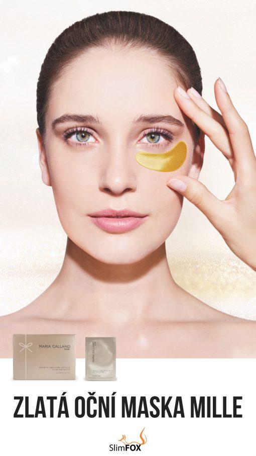 Zlatá oční maska Maria Galland Mille