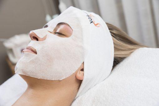 [n]fibrecare maska aplikovaná na pleti